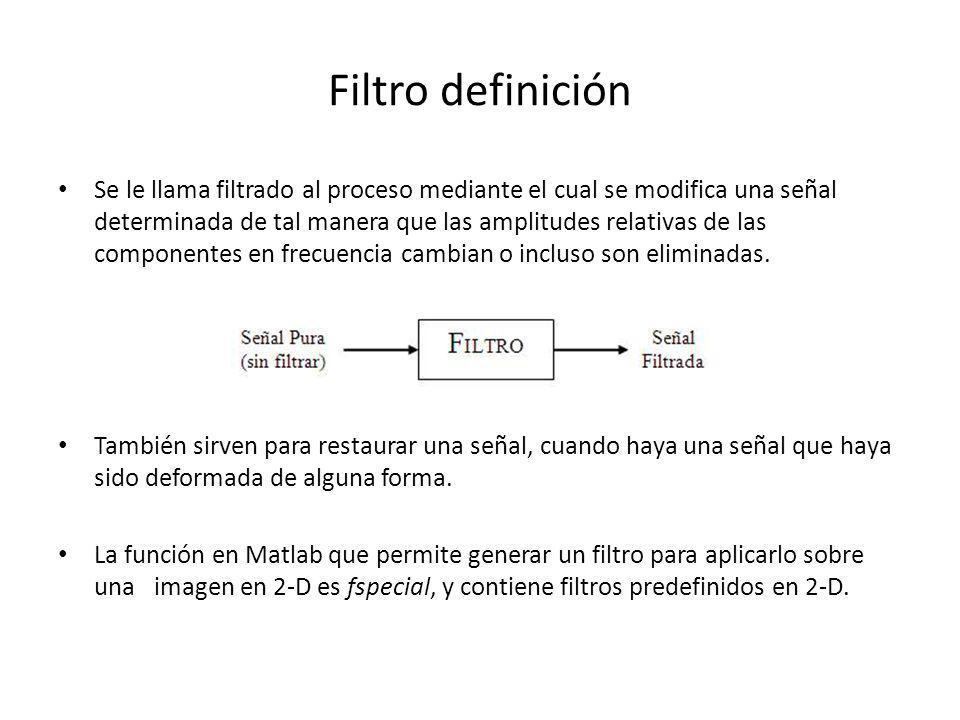 Filtro definición