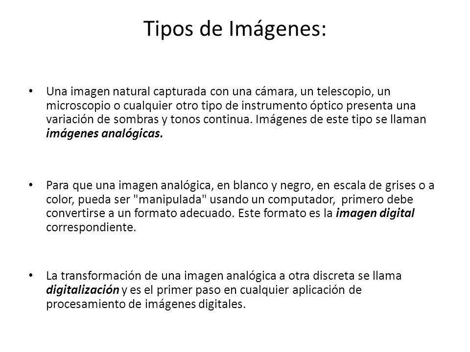 Tipos de Imágenes: