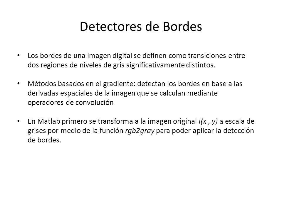 Detectores de Bordes
