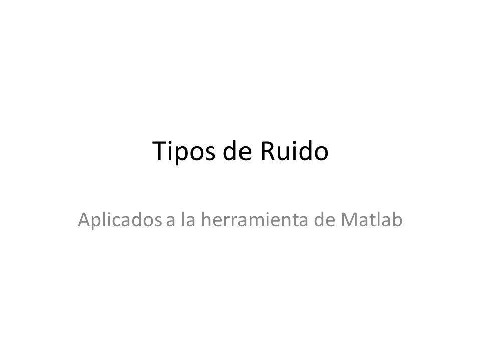 Aplicados a la herramienta de Matlab