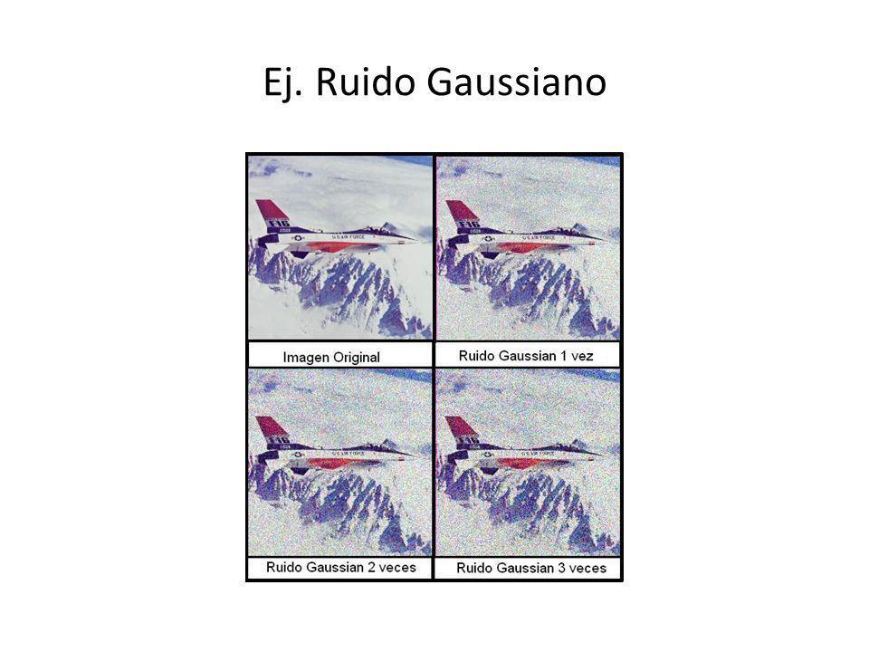 Ej. Ruido Gaussiano