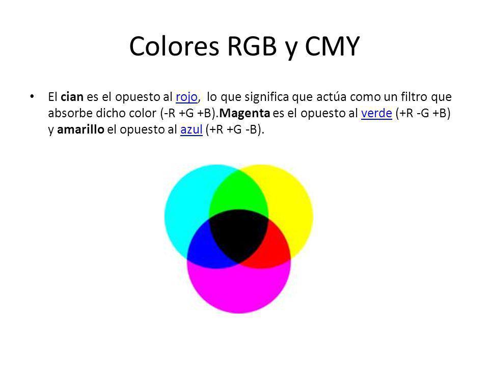 Colores RGB y CMY