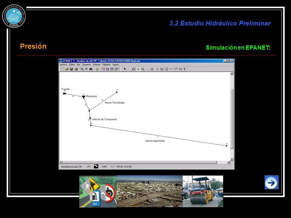 3.2 Estudio Hidráulico Preliminar