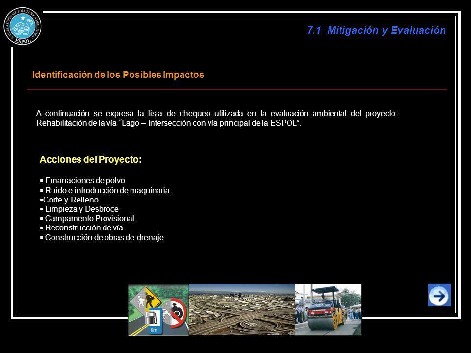 7.1 Mitigación y Evaluación