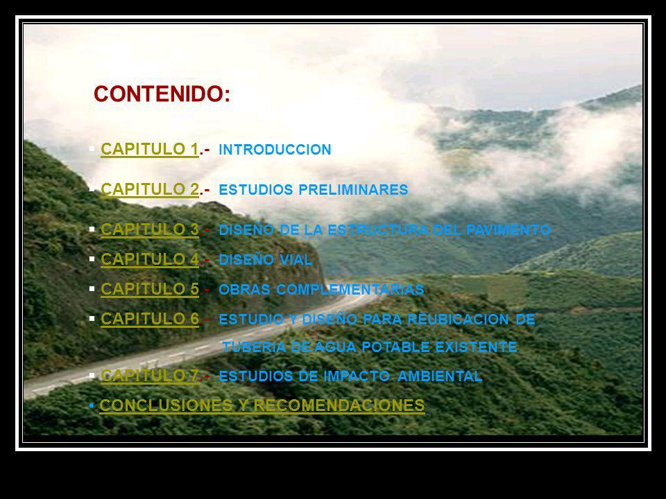 CONTENIDO: CAPITULO 1.- INTRODUCCION