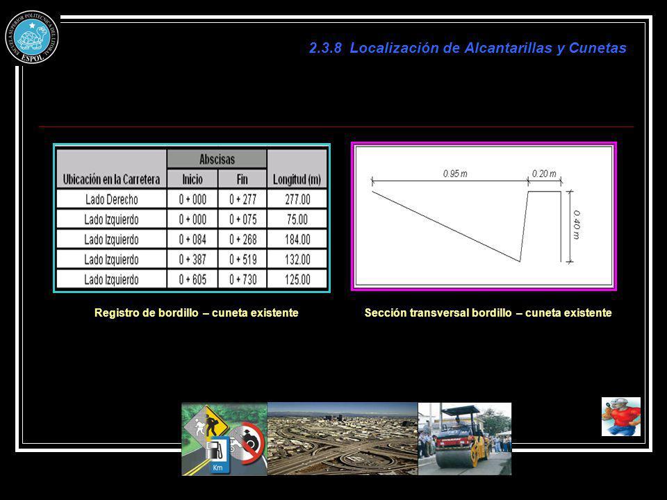 2.3.8 Localización de Alcantarillas y Cunetas