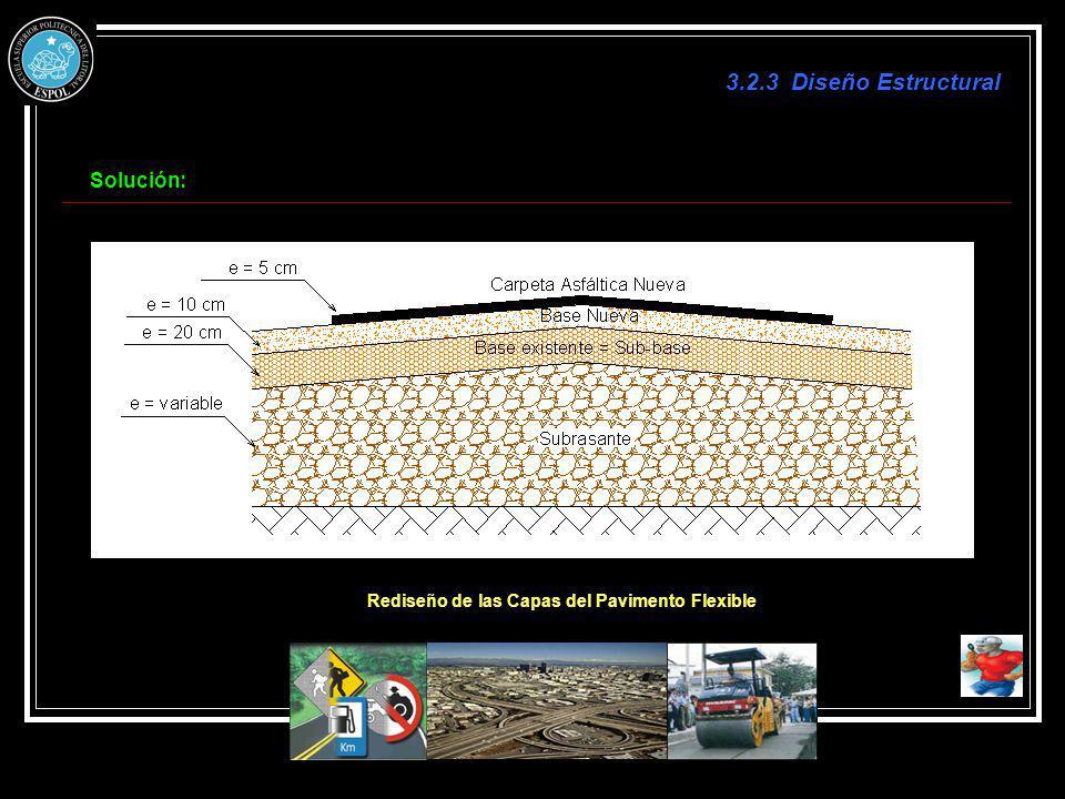 Rediseño de las Capas del Pavimento Flexible