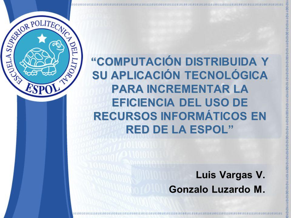 Luis Vargas V. Gonzalo Luzardo M.