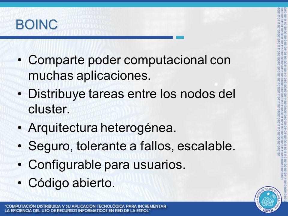 BOINC Comparte poder computacional con muchas aplicaciones.