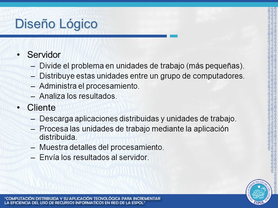 Diseño Lógico Servidor Cliente