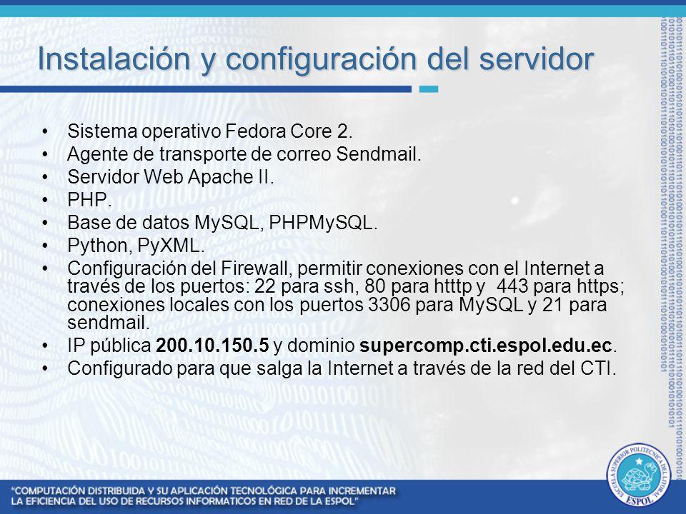 Instalación y configuración del servidor