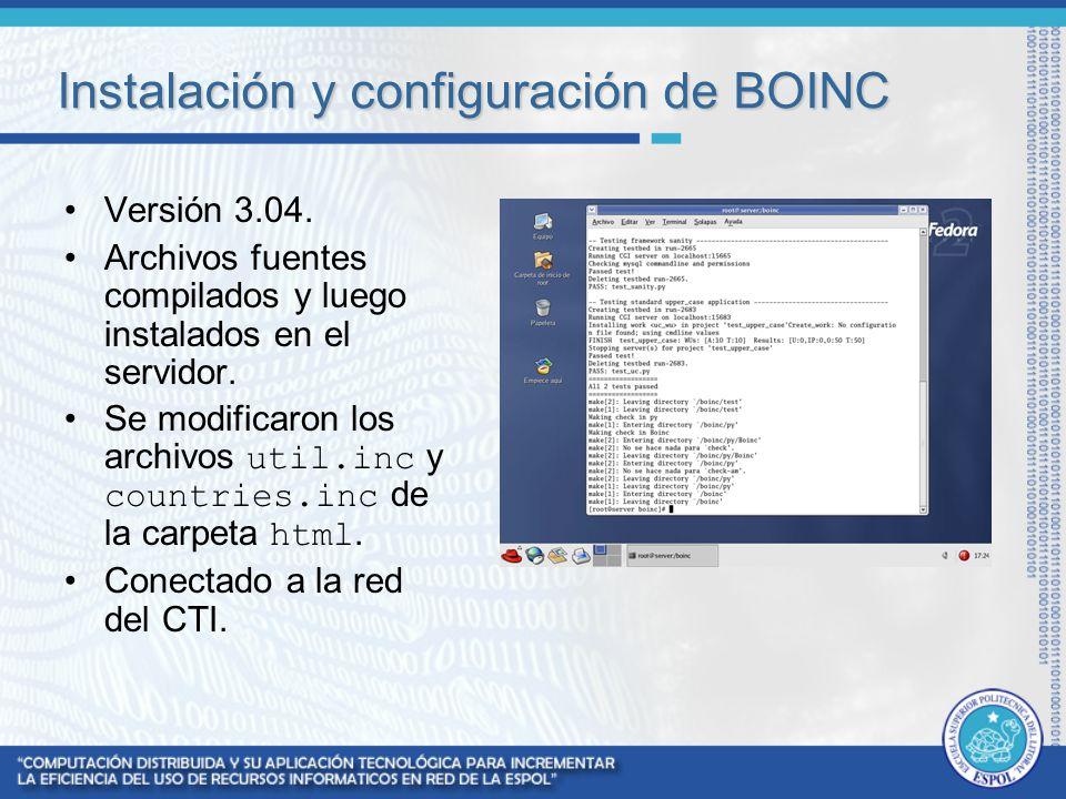 Instalación y configuración de BOINC