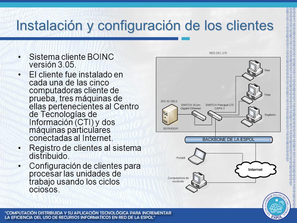 Instalación y configuración de los clientes
