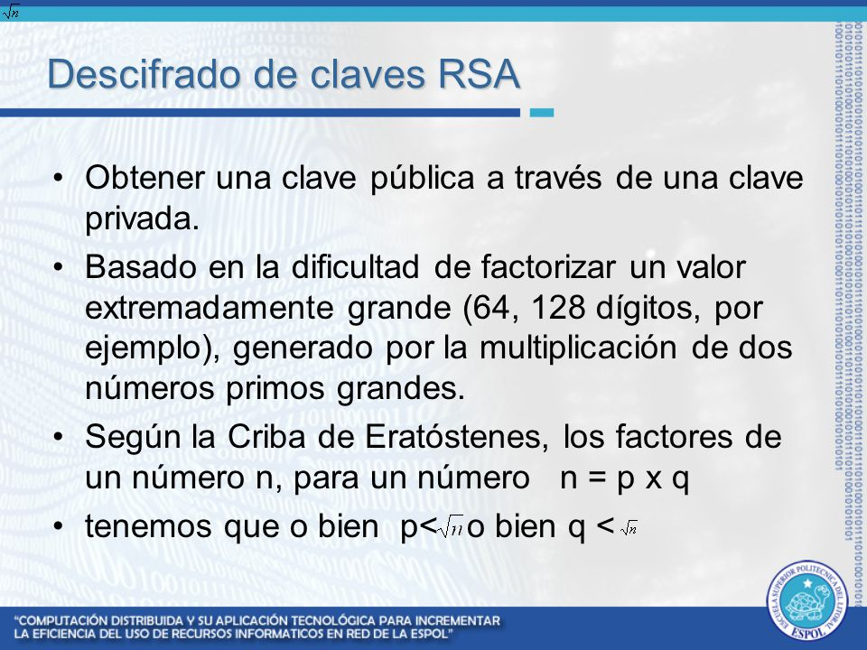 Descifrado de claves RSA