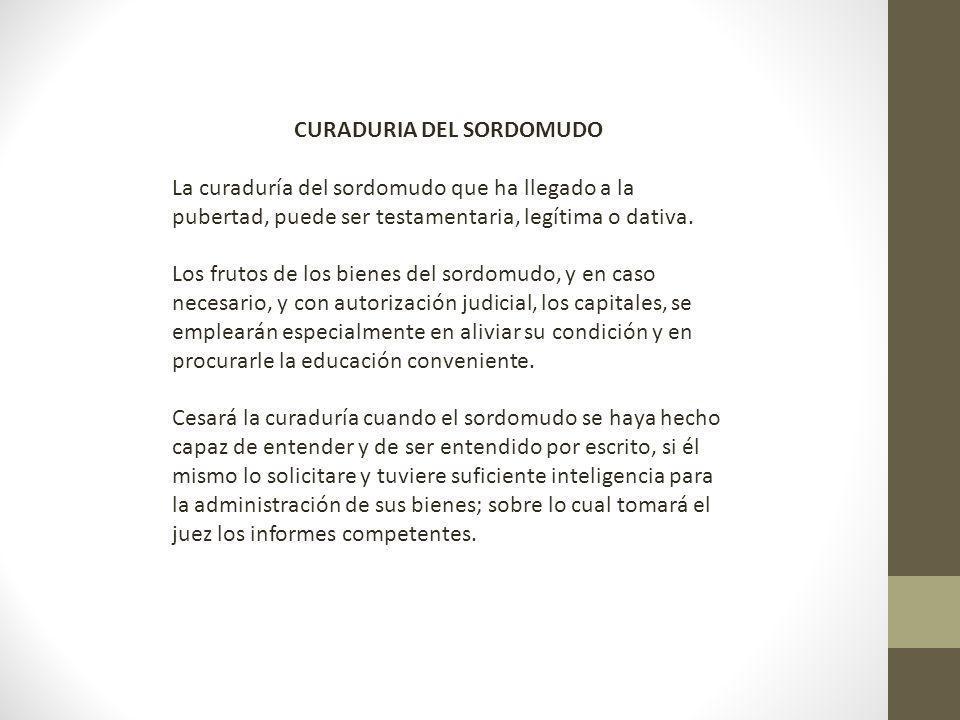 CURADURIA DEL SORDOMUDO