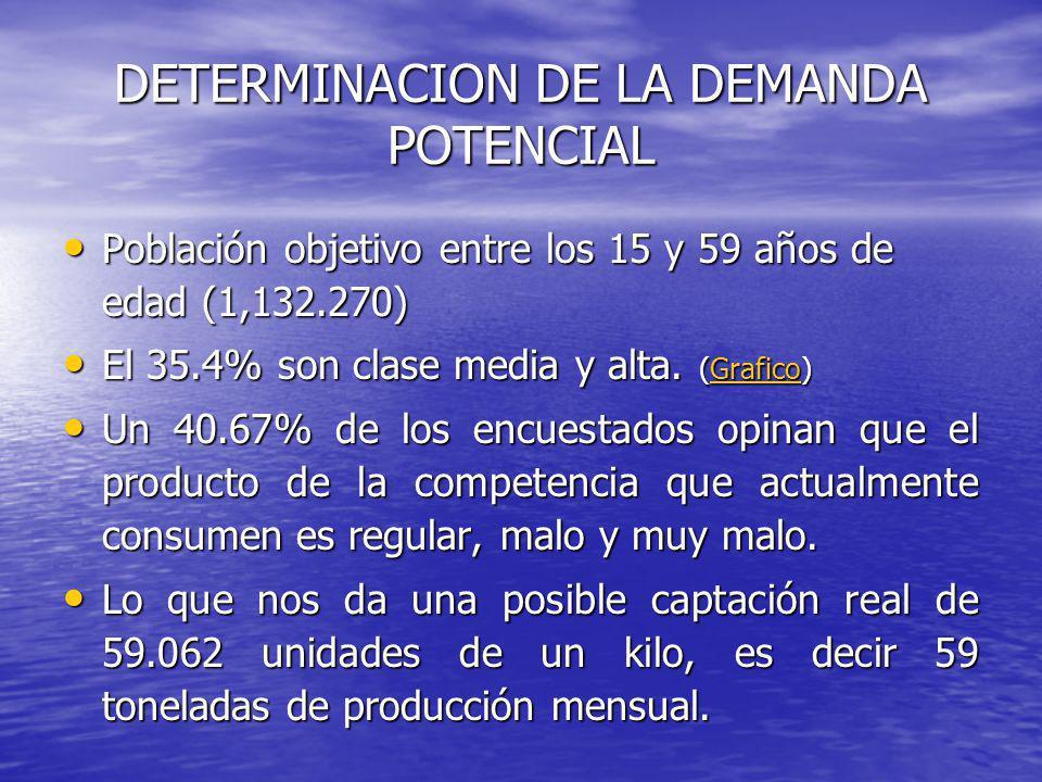 DETERMINACION DE LA DEMANDA POTENCIAL