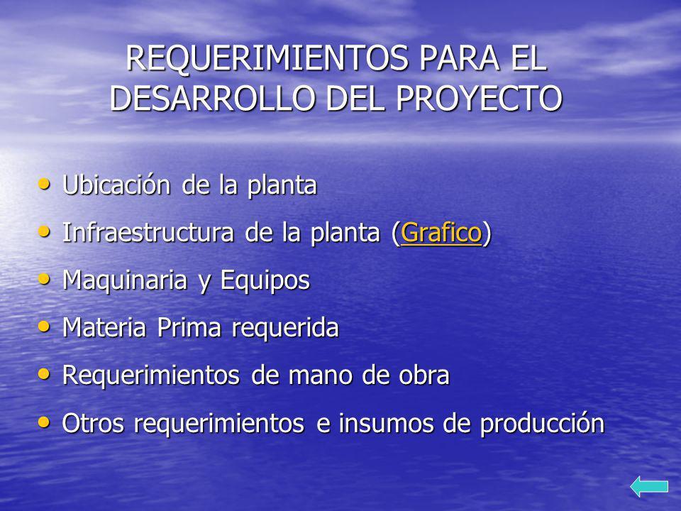 REQUERIMIENTOS PARA EL DESARROLLO DEL PROYECTO