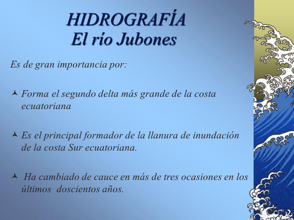 HIDROGRAFÍA El río Jubones Es de gran importancia por: