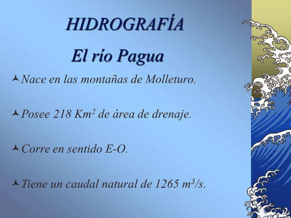 HIDROGRAFÍA El río Pagua Nace en las montañas de Molleturo.