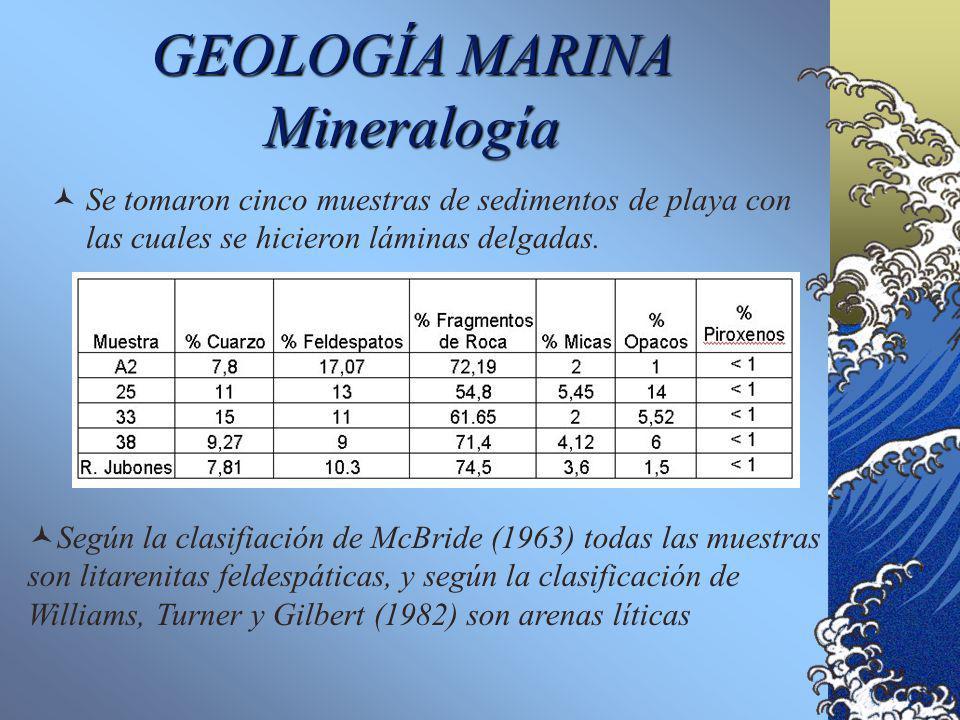 GEOLOGÍA MARINA Mineralogía