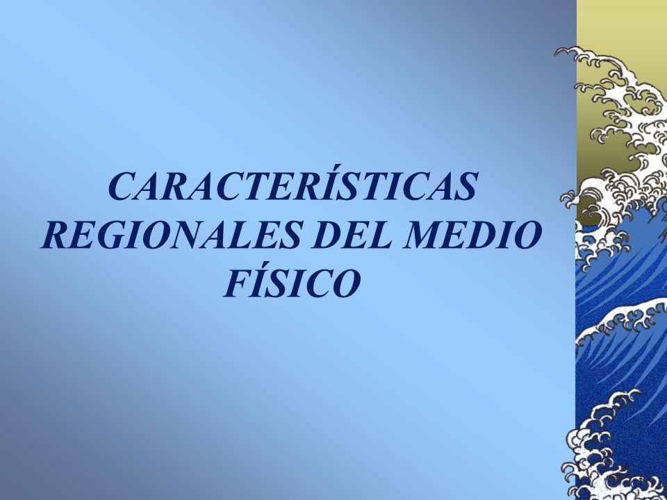 CARACTERÍSTICAS REGIONALES DEL MEDIO FÍSICO