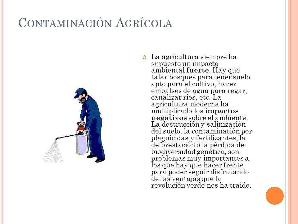 Contaminación Agrícola