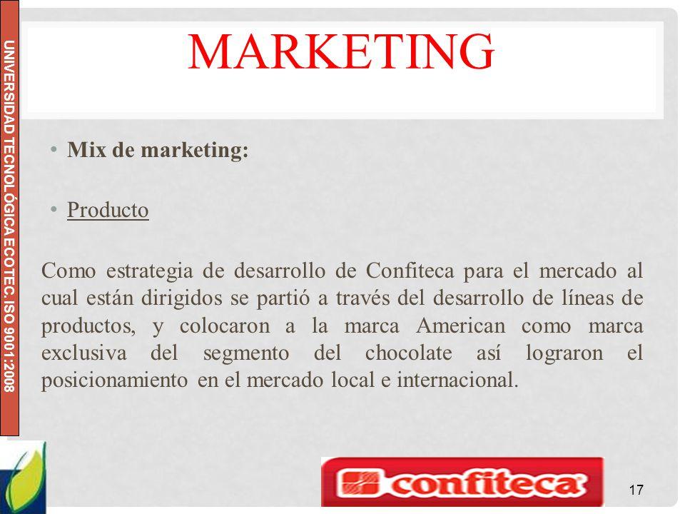 Marketing Mix de marketing: Producto
