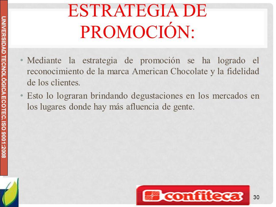 Estrategia de promoción: