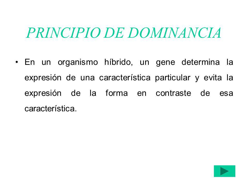 PRINCIPIO DE DOMINANCIA
