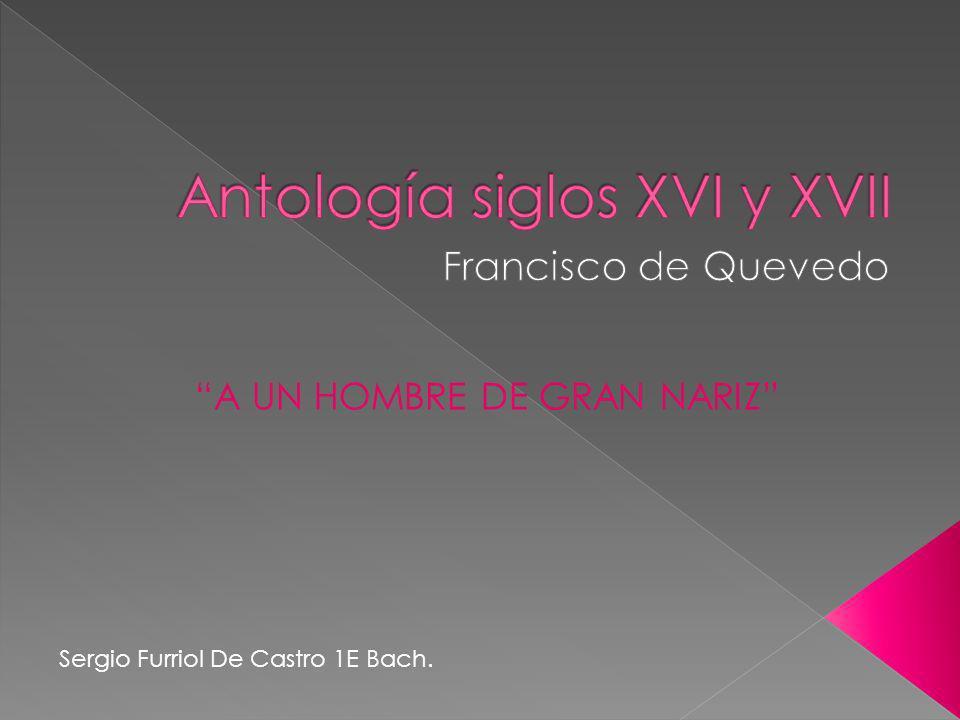Antología siglos XVI y XVII