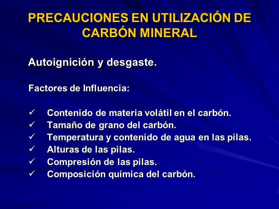 PRECAUCIONES EN UTILIZACIÓN DE CARBÓN MINERAL