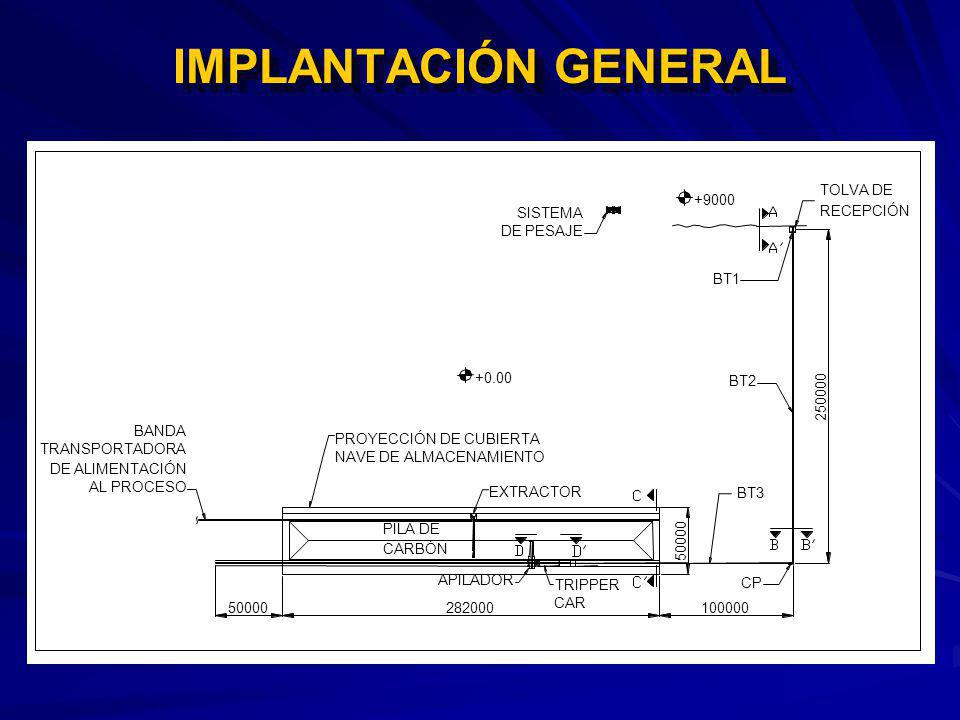 IMPLANTACIÓN GENERAL BT2 BT3 250000 50000 100000 APILADOR TRIPPER CAR