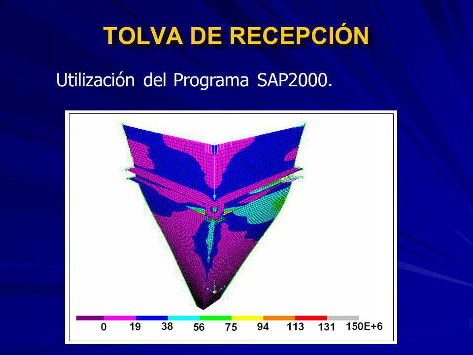 TOLVA DE RECEPCIÓN Utilización del Programa SAP2000.