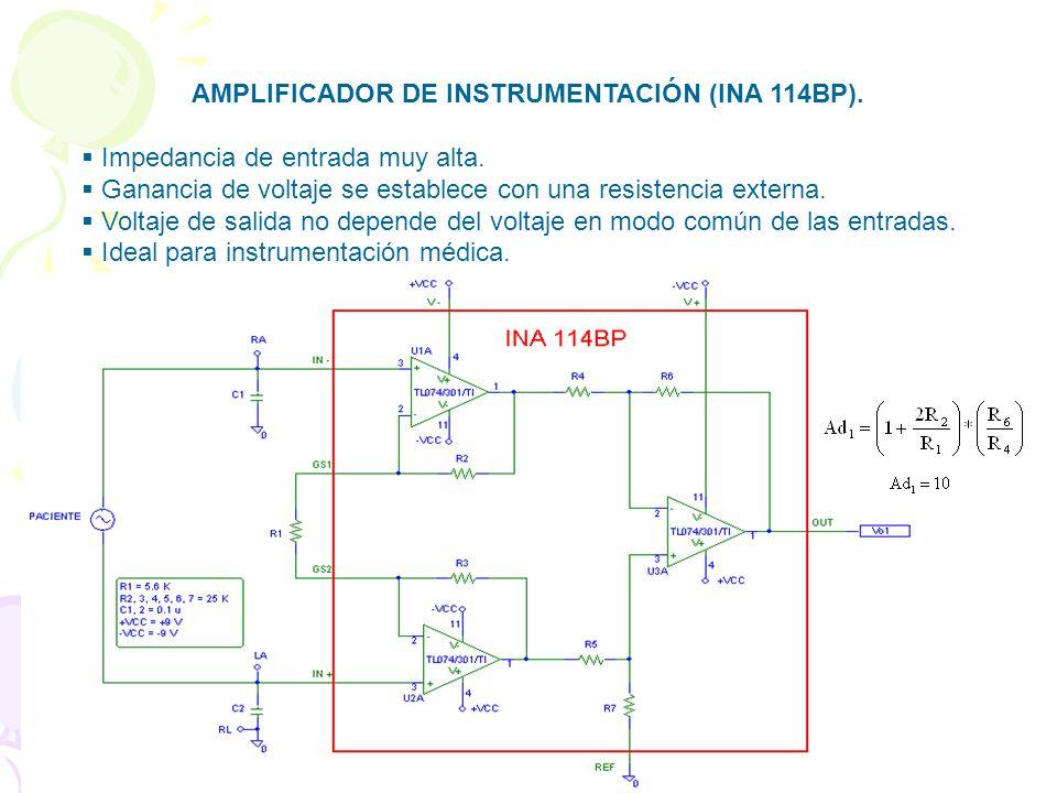 AMPLIFICADOR DE INSTRUMENTACIÓN (INA 114BP).