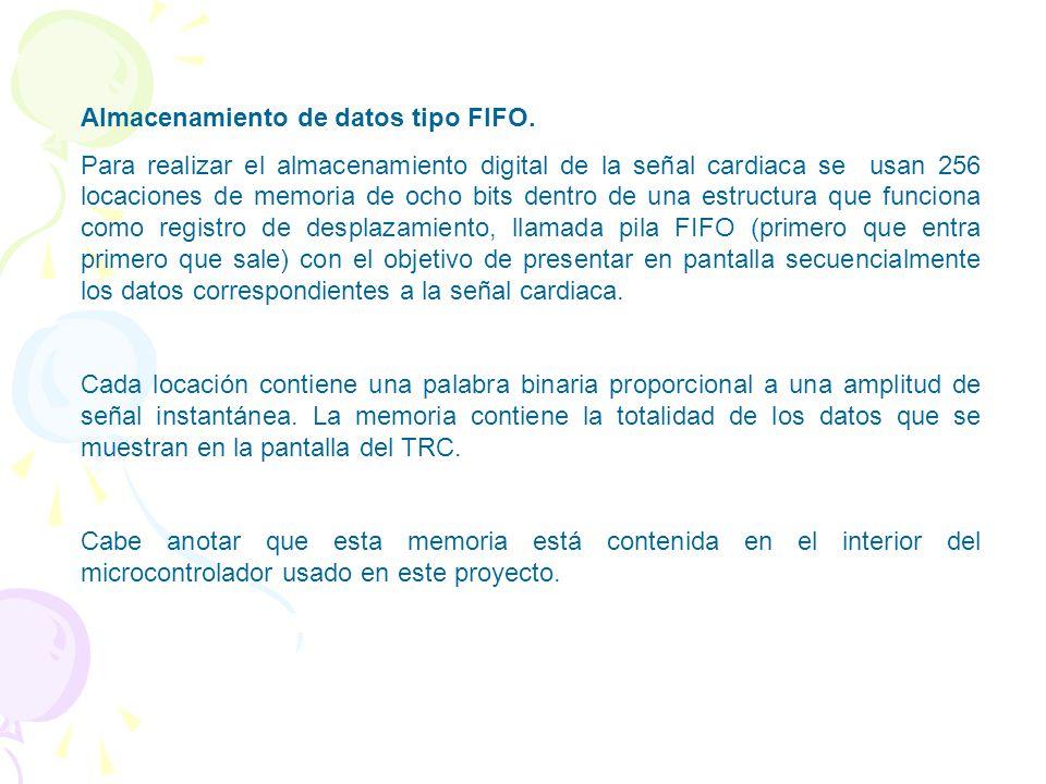 Almacenamiento de datos tipo FIFO.