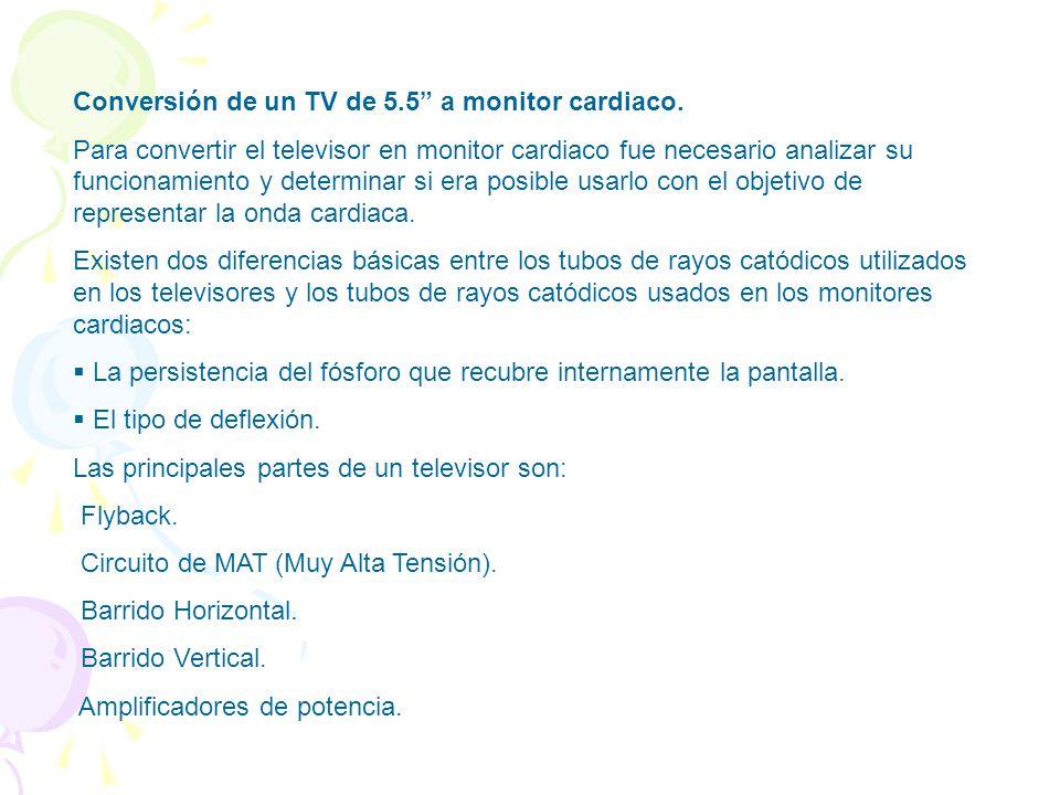 Conversión de un TV de 5.5 a monitor cardiaco.
