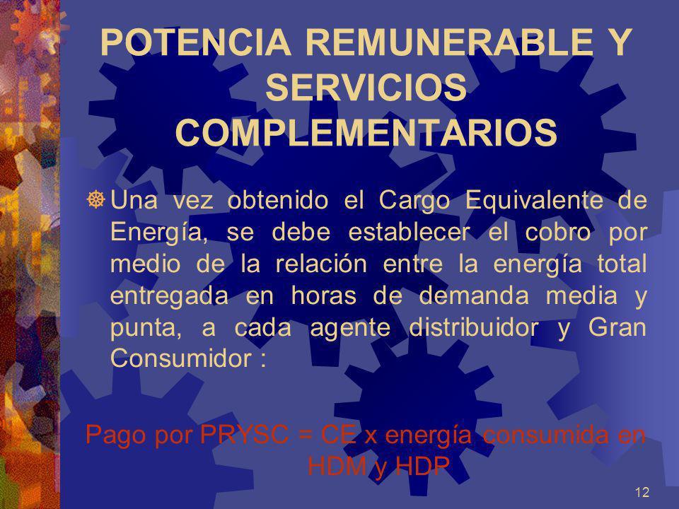 POTENCIA REMUNERABLE Y SERVICIOS COMPLEMENTARIOS