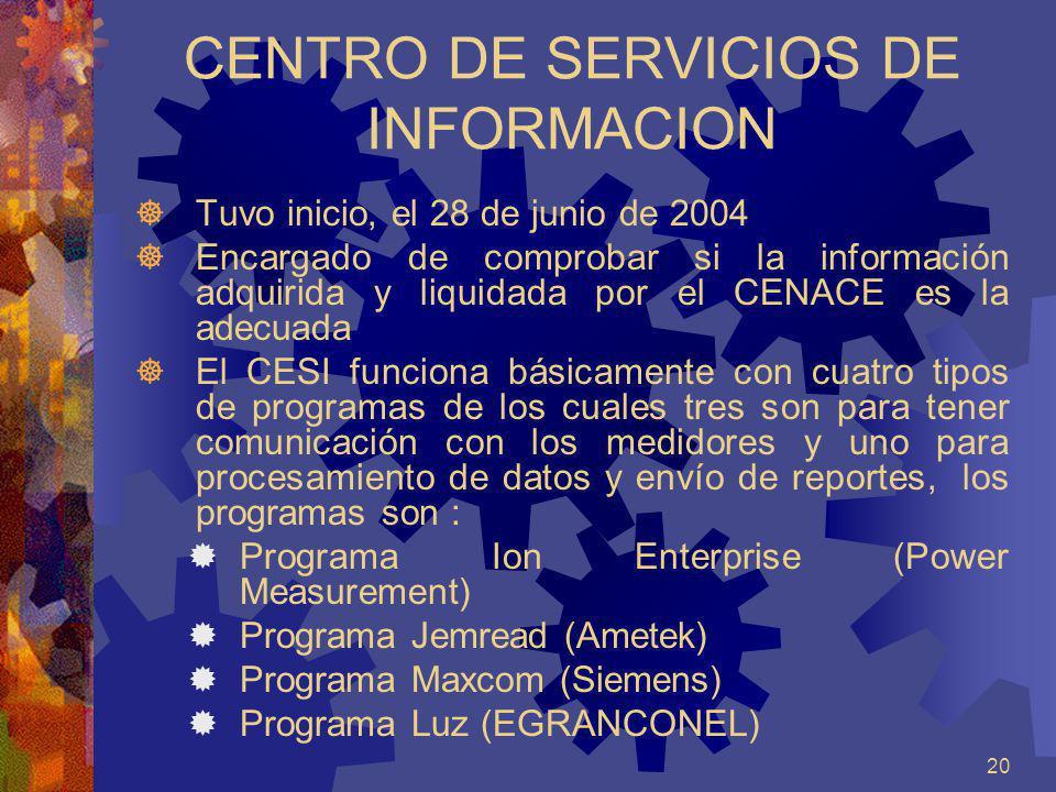 CENTRO DE SERVICIOS DE INFORMACION