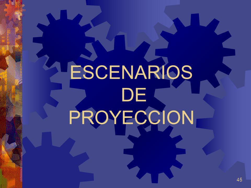 ESCENARIOS DE PROYECCION