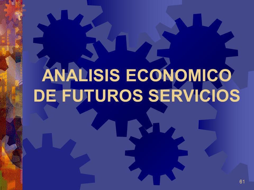ANALISIS ECONOMICO DE FUTUROS SERVICIOS