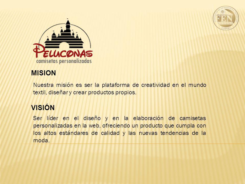 MISION Nuestra misión es ser la plataforma de creatividad en el mundo textil, diseñar y crear productos propios.