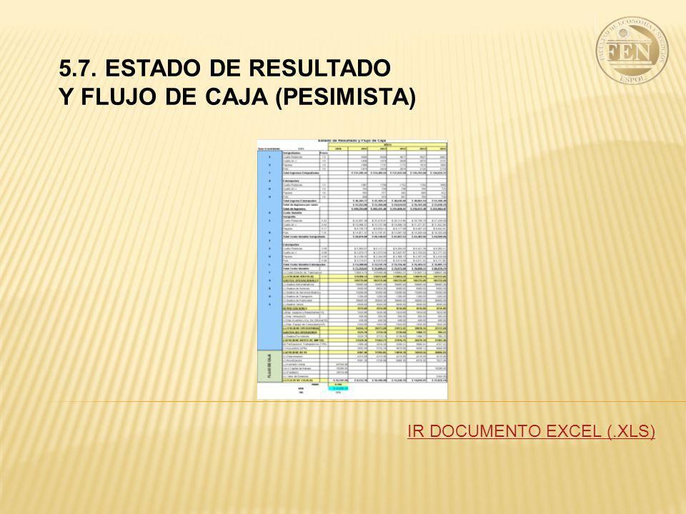Y FLUJO DE CAJA (PESIMISTA)