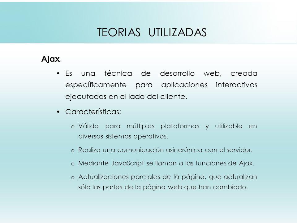 TEORIAS UTILIZADAS Ajax