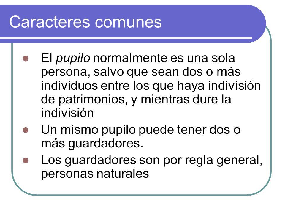 Caracteres comunes