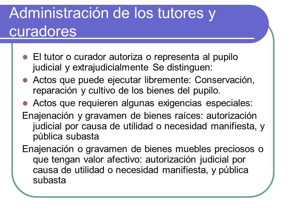 Administración de los tutores y curadores