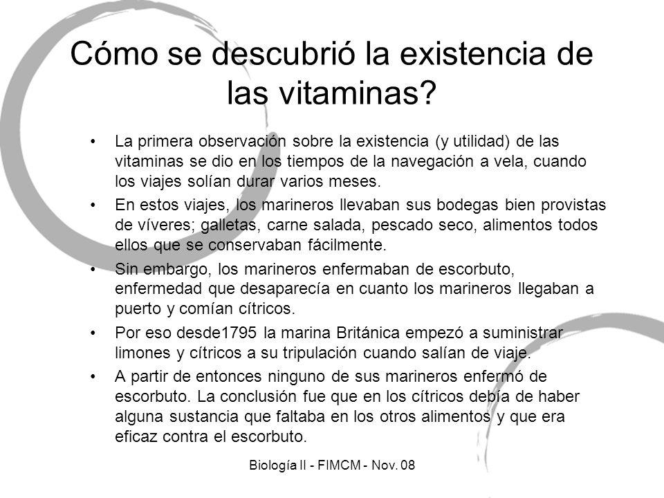 Cómo se descubrió la existencia de las vitaminas