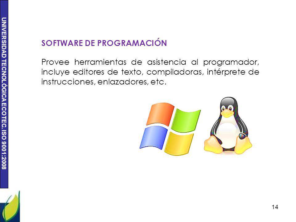 SOFTWARE DE PROGRAMACIÓN