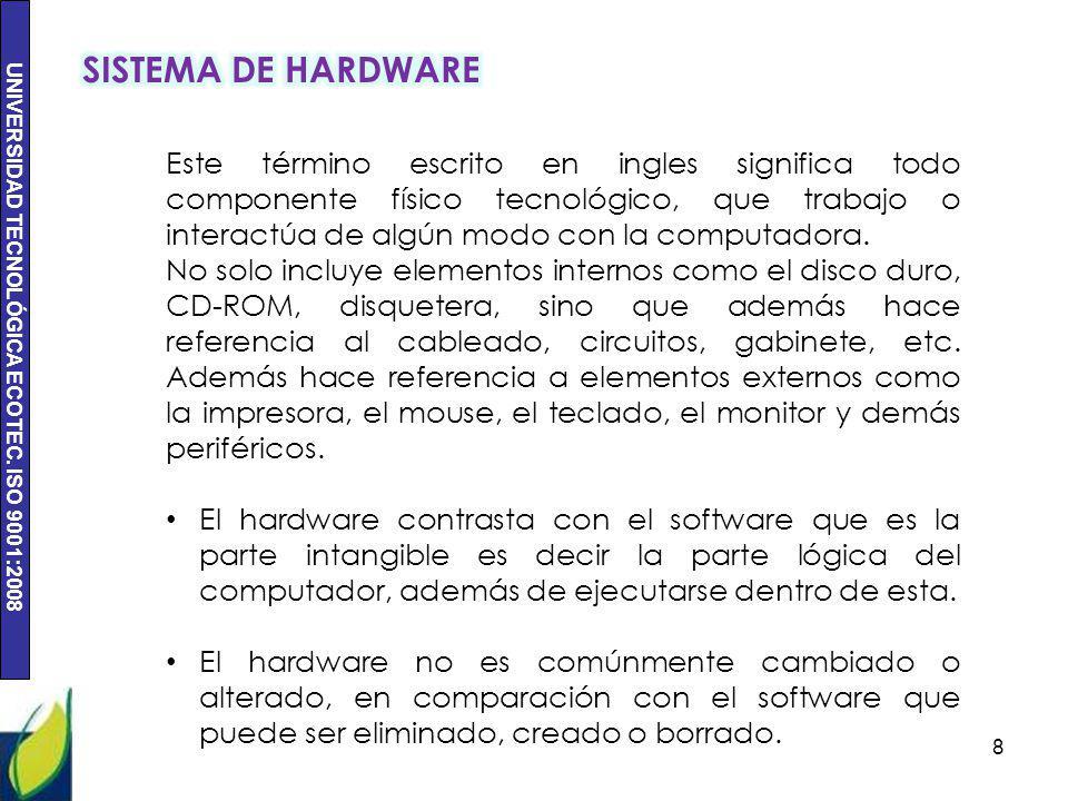 SISTEMA DE HARDWARE