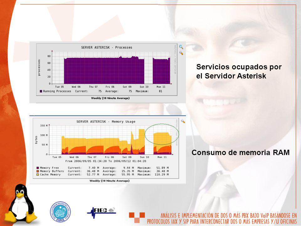 Servicios ocupados por el Servidor Asterisk