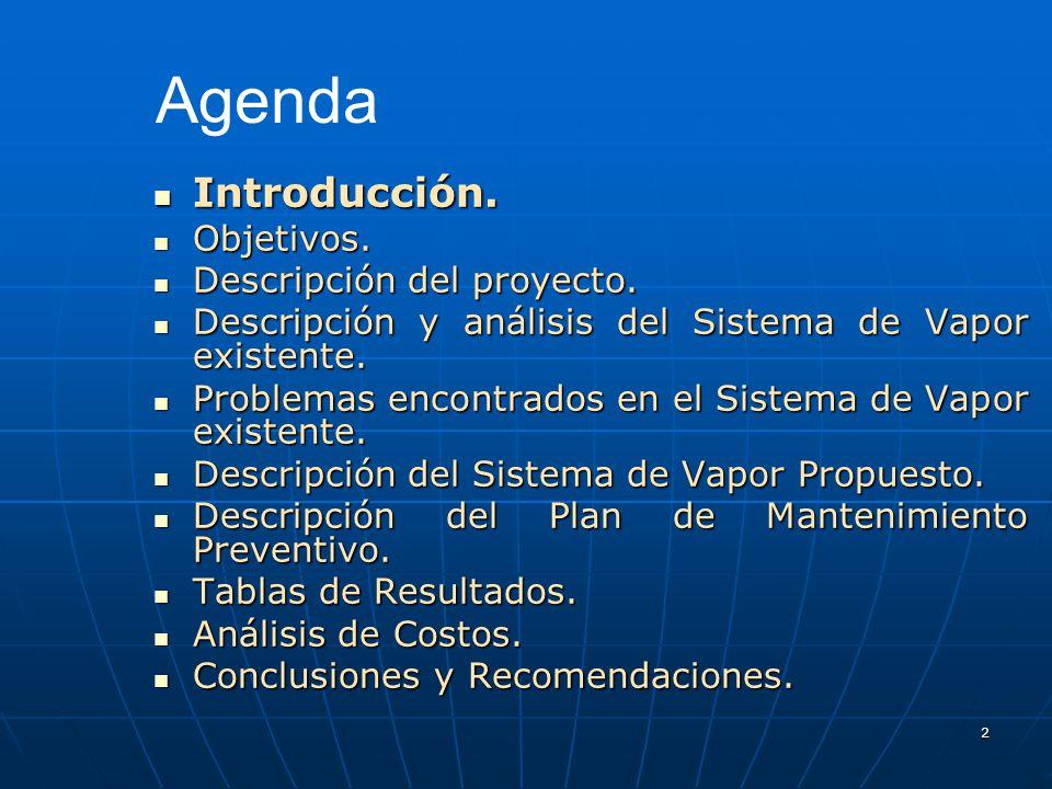 Agenda Introducción. Objetivos. Descripción del proyecto.